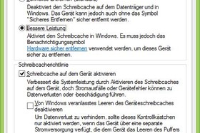 Windows Schreibcache an
