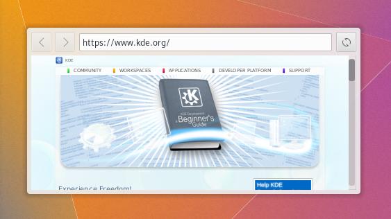Web-Browser Plasmoid