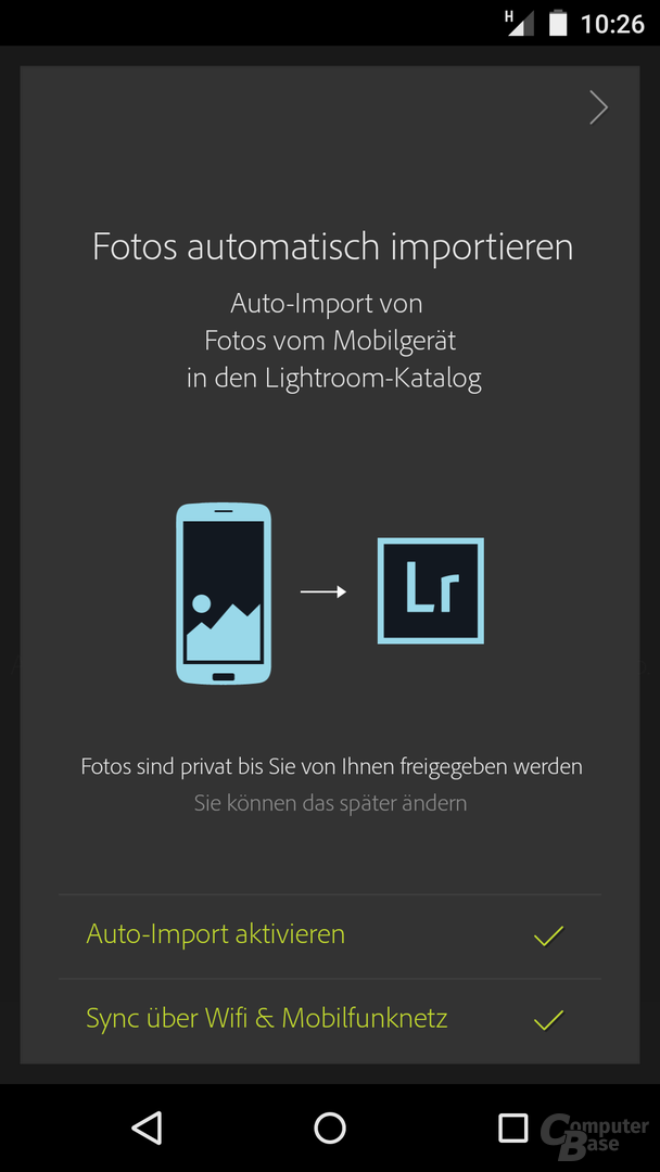 Adobe Lightroom mobile für Android