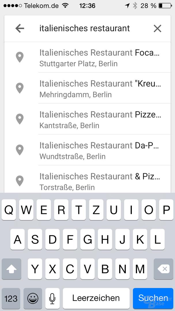 Google Maps 4.2 für iOS
