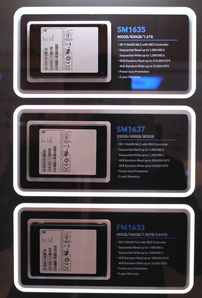 Samsung PM1633, SM1635 und SM1637 mit SAS
