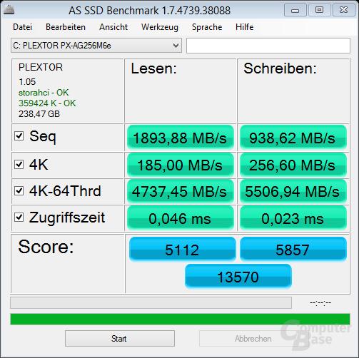 AS SSD mit PlexTurbo 2.0