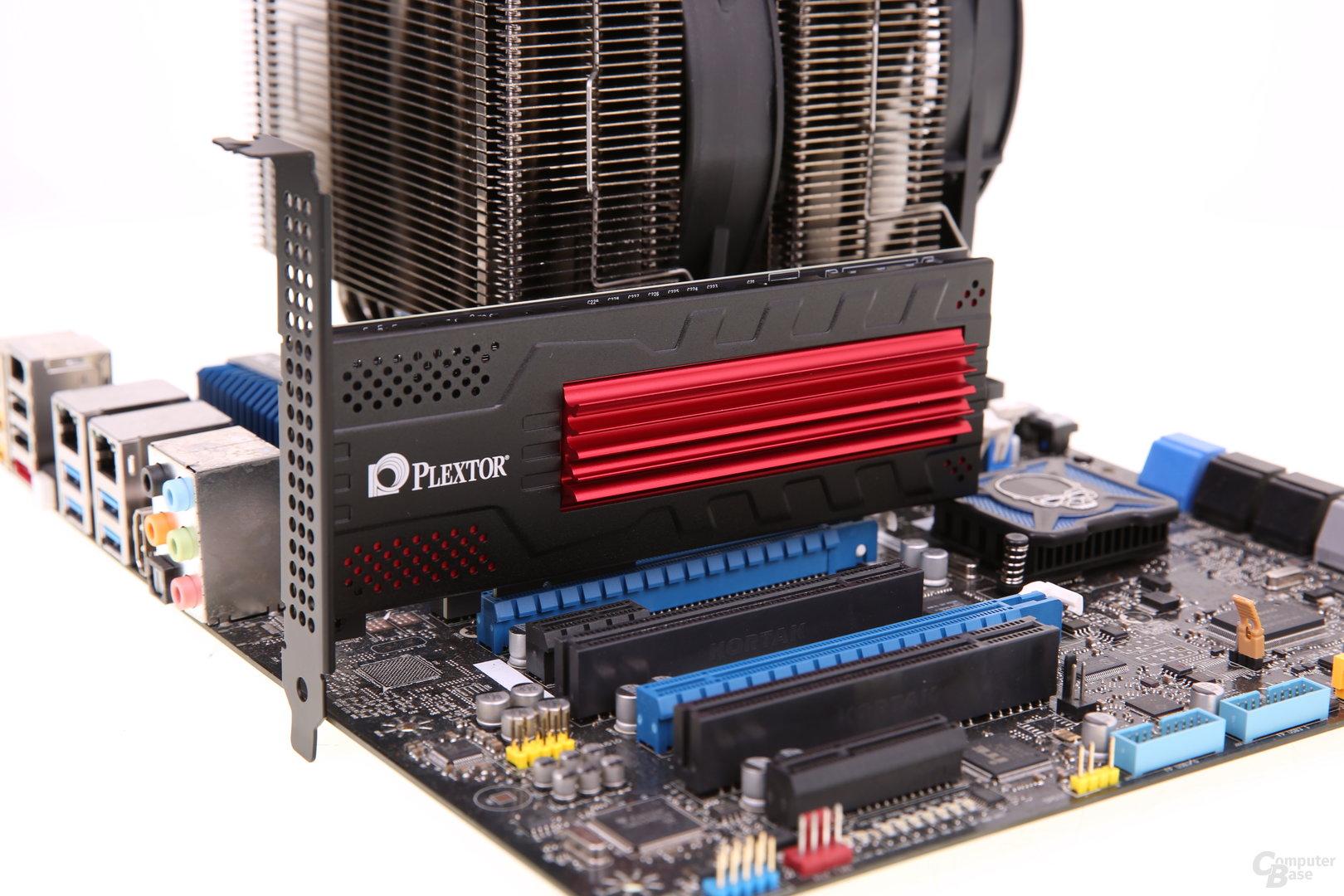 Plextor M6e Black Edition auf Mainboard