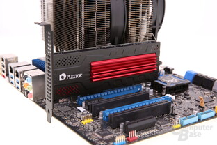 Plextor M6e Black Edition auf Mainboard