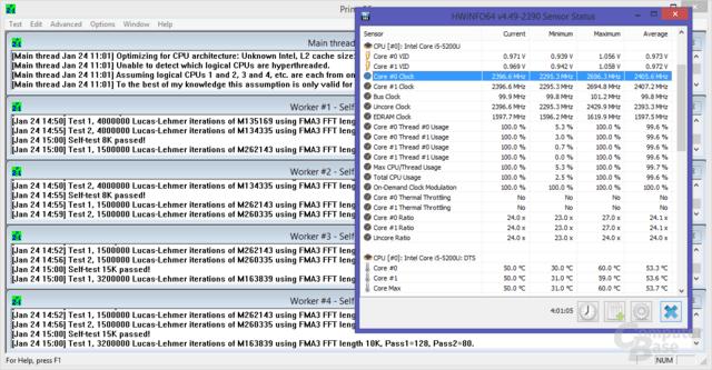 Volle CPU-Last für 4 Stunden: keine Probleme