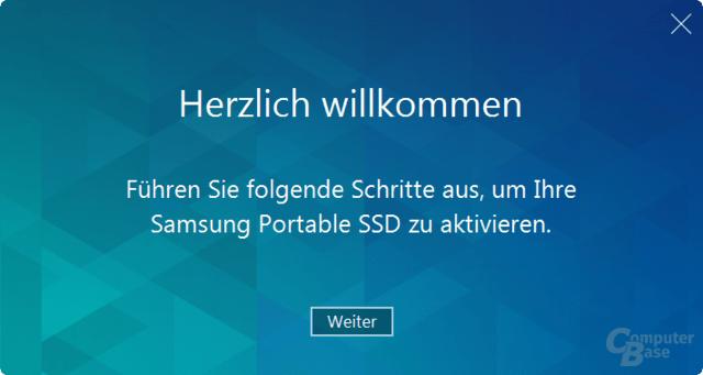 Aktivierungs-Software der Portable SSD T1