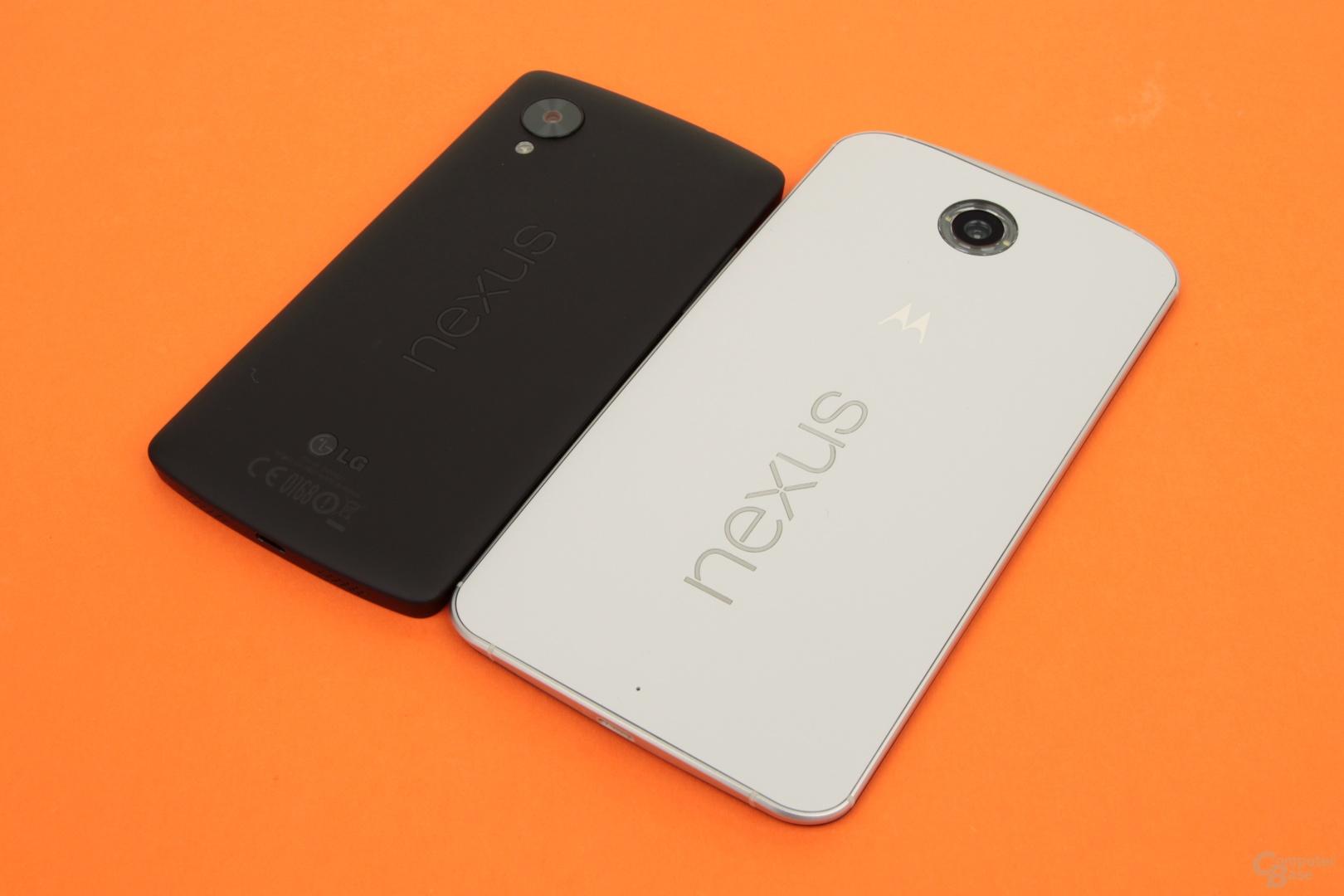 Das Nexus 6 ist deutlich größer als das Nexus 5