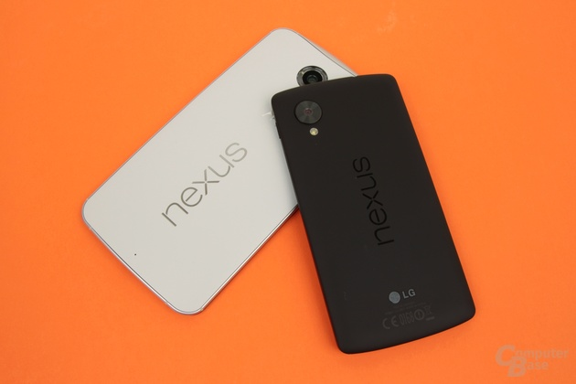 Das Nexus 6 vor allem größer als das Nexus 5, aber nicht durchweg besser
