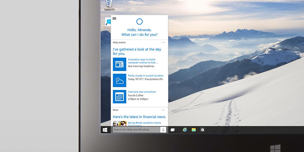 Windows 10: Cortana