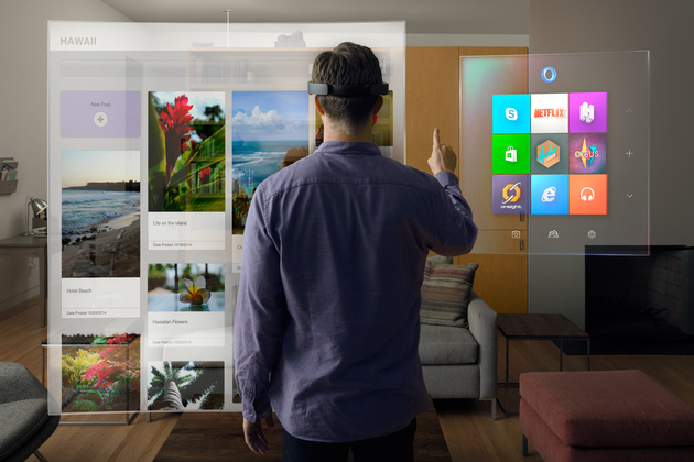 Microsofts HoloLens in einer Simulation