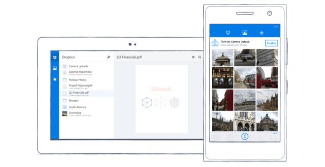 Dropbox für Windows Phone 8.0 und Windows 8.1 / Windows RT