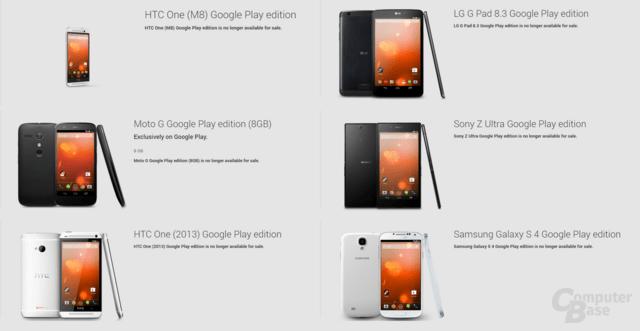 Die letzte Google Play Edition hat den Store verlassen