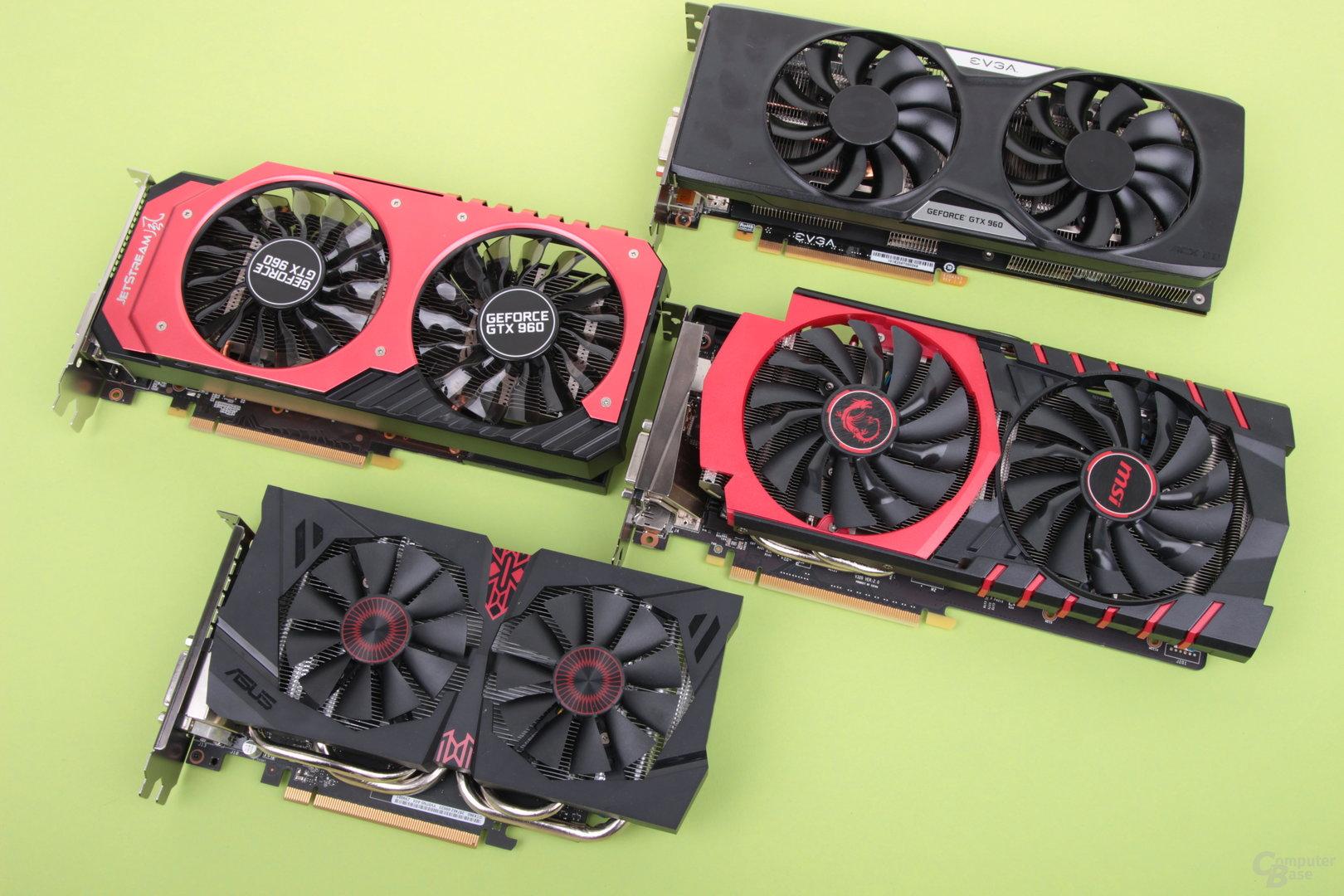 Partnerkarten der Nvidia GeForce GTX 960