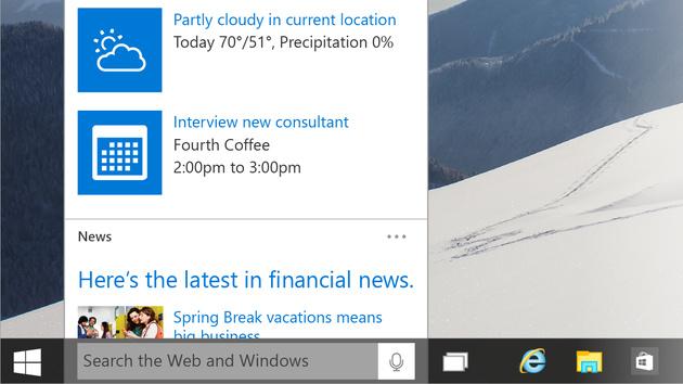 Windows 10: Build 9926 mit Cortana und DirectX 12 freigegeben
