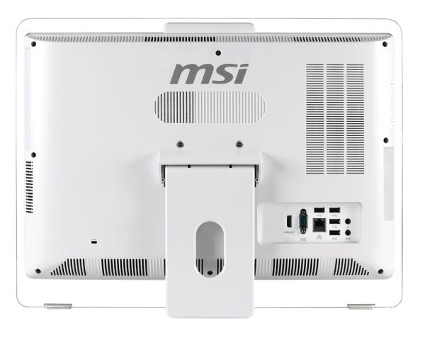 MSI AE200 5M – die Rückseite