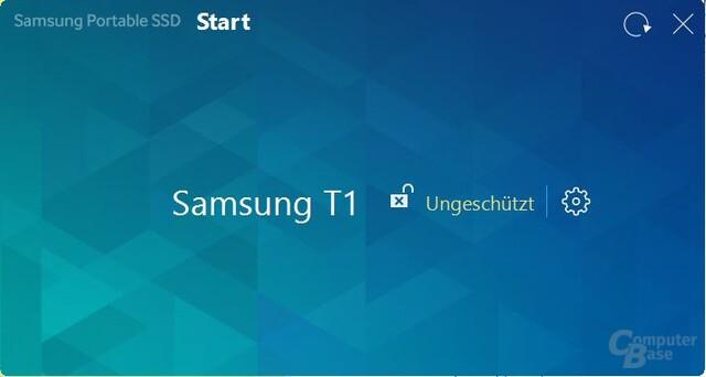 Startseite des Software-Tools (unverschlüsselt)