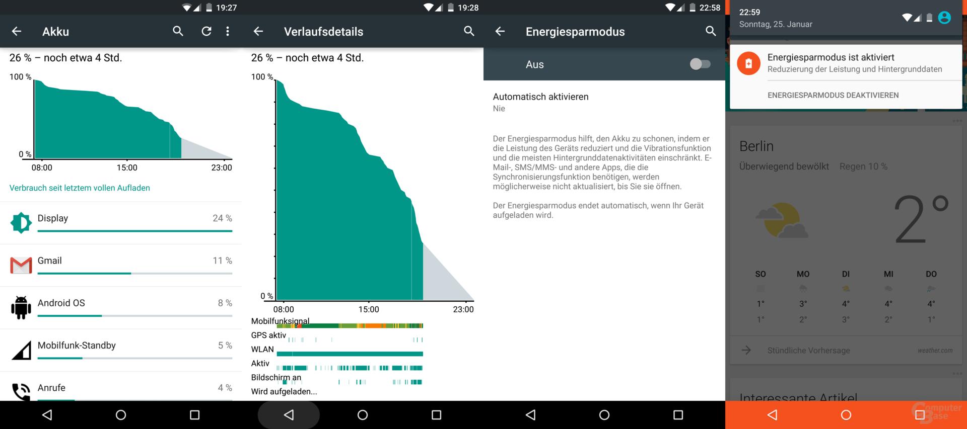 Das Nexus 6 ist kein Langläufer und fordert jeden Tag dazu auf, in den Energiesparmodus zu wechseln