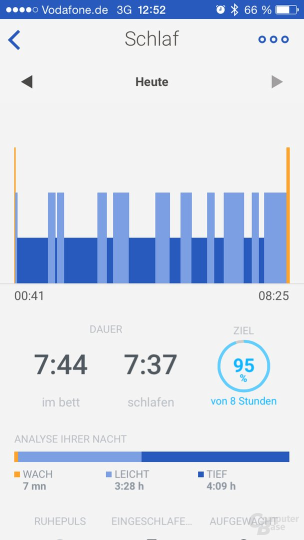 Withings App – Schlafanalyse