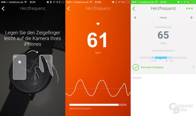 Withings App – Herzfrequenzanalyse dank Kamera und Blitzlicht