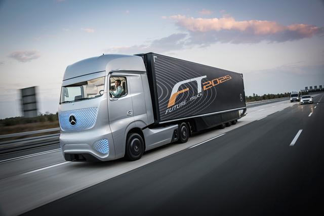 Autonomes Fahren mit dem Mercedes-Benz Future Truck 2025