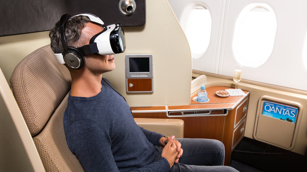 Virtual Reality: Samsung Gear VR hebt mit Qantas in der First Class ab