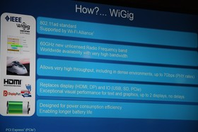 Intel Wireless Docking via WiGig