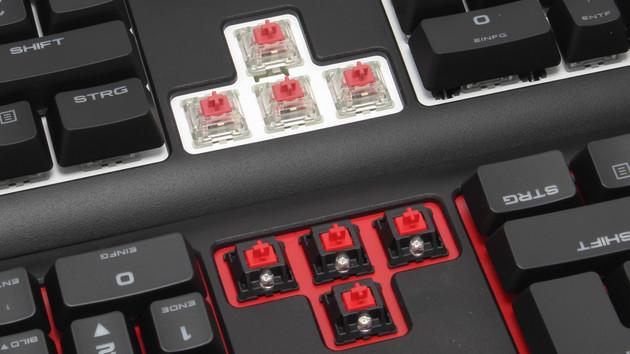 rubberdome mechanisch tastaturen f r gaming office im. Black Bedroom Furniture Sets. Home Design Ideas