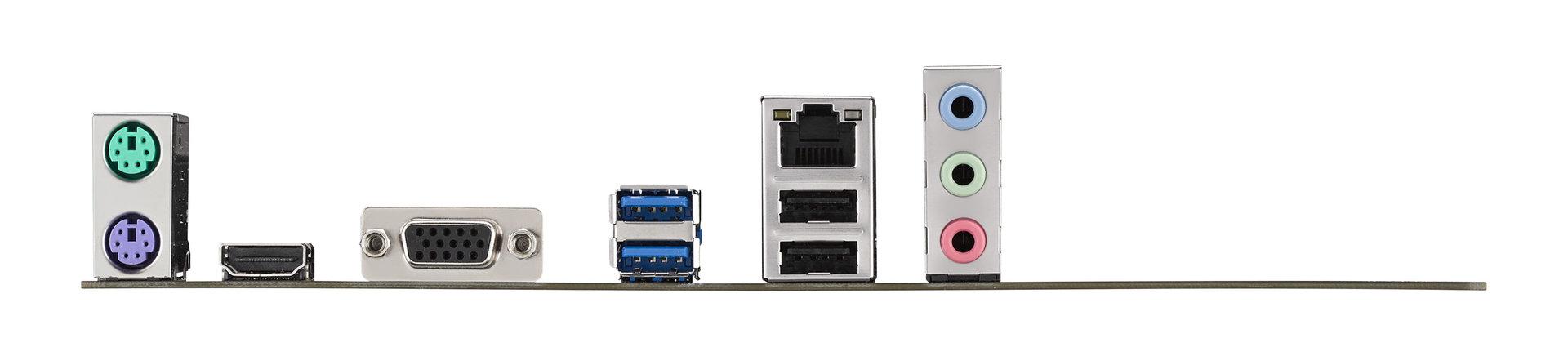 Asus B85M-Gamer – das I/O-Panel