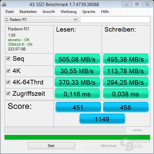 Radeon R7 SSD vor Update (Firmware 1.00)