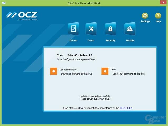 OCZ Toolbox: Firmware-Update erfolgreich