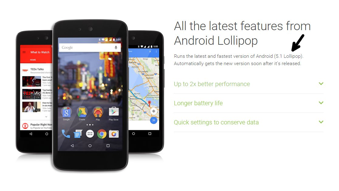Android 5.1 auf Android One gesichtet