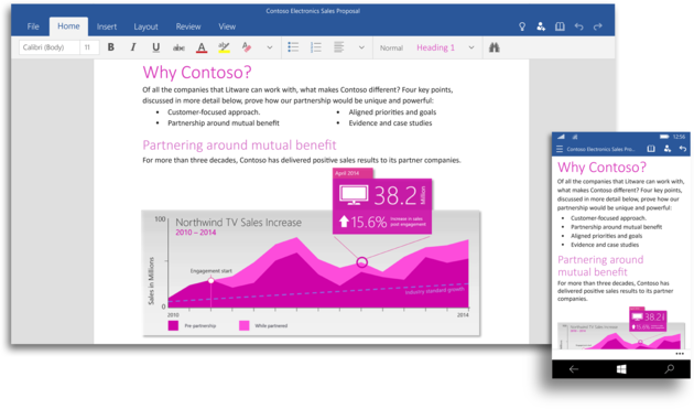 Word aus Office for Windows 10