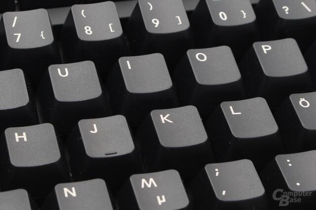 """Die Tastenkappen aus ABS-Kunststoff sind im """"pad-printing""""-Verfahren beschriftet"""