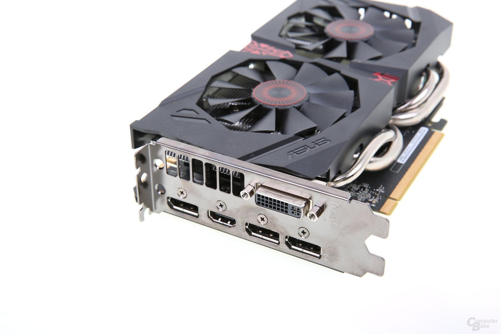 Asus GeForce GTX 960 Strix - Slotblech