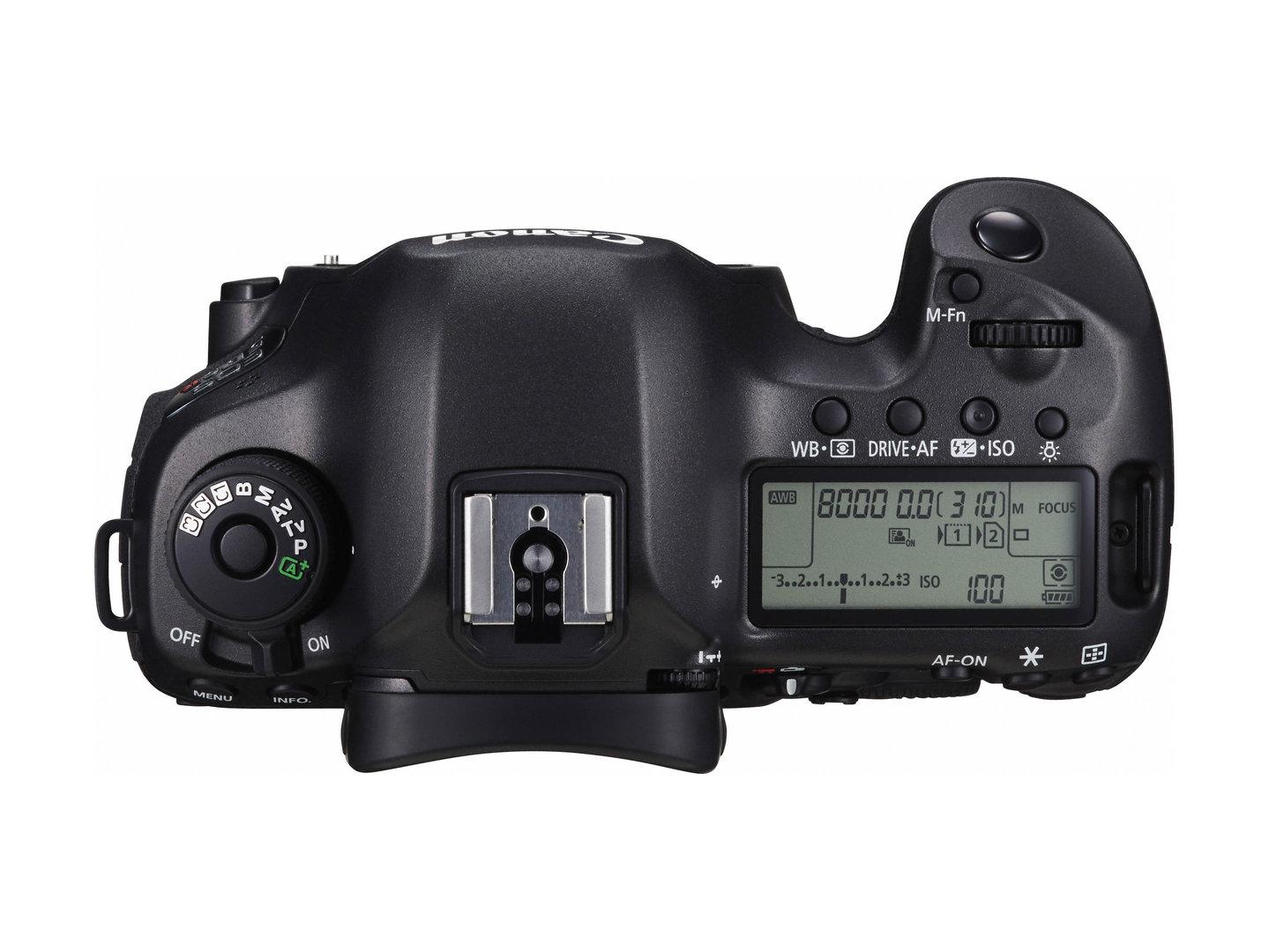 Canon EOS 5DS R – Oberseite