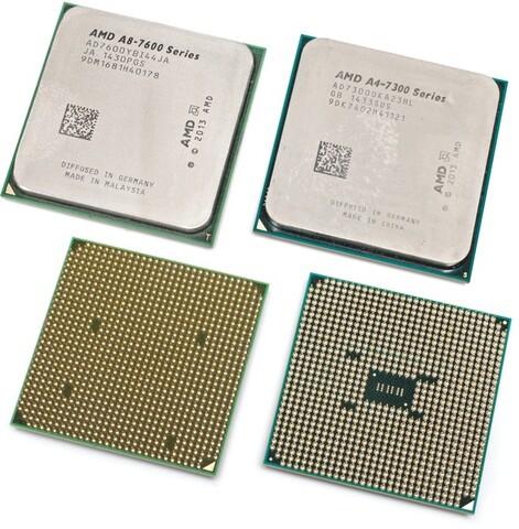 Gefälschte CPU (links) und Original (rechts)