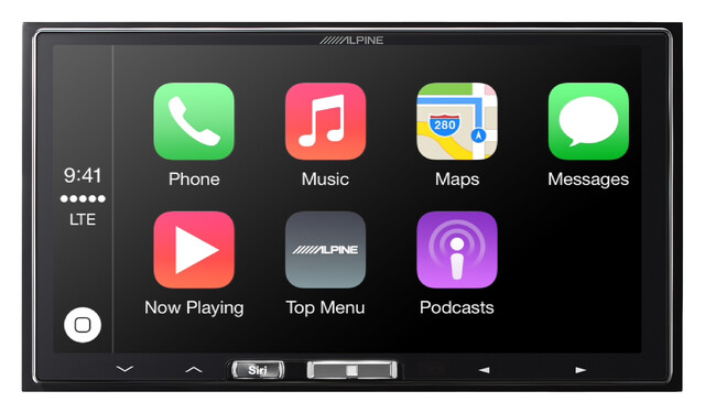 Apple CarPlay auf einer Alpine Head Unit