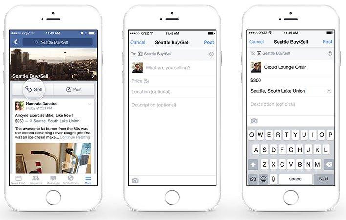 Facebooks Verkaufen-Button