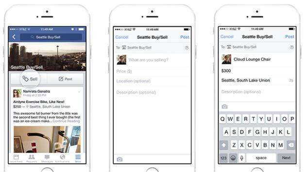 Facebook: Verkaufen-Button soll Kleinanzeigen fördern