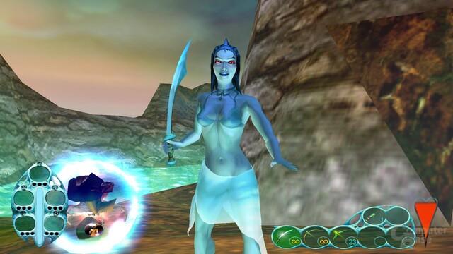 """Das Bikini-Top der Sea-Reaper-Protagonistin wurde für den US-amerikanischen Markt eingefügt. Löschen der """"arpfix.gpz"""" im Bin-Unterverzeichnis stellt den Ausgangszustand wieder her."""