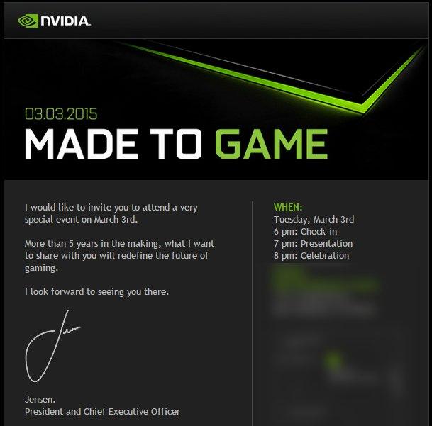 Einladung von Nvidia