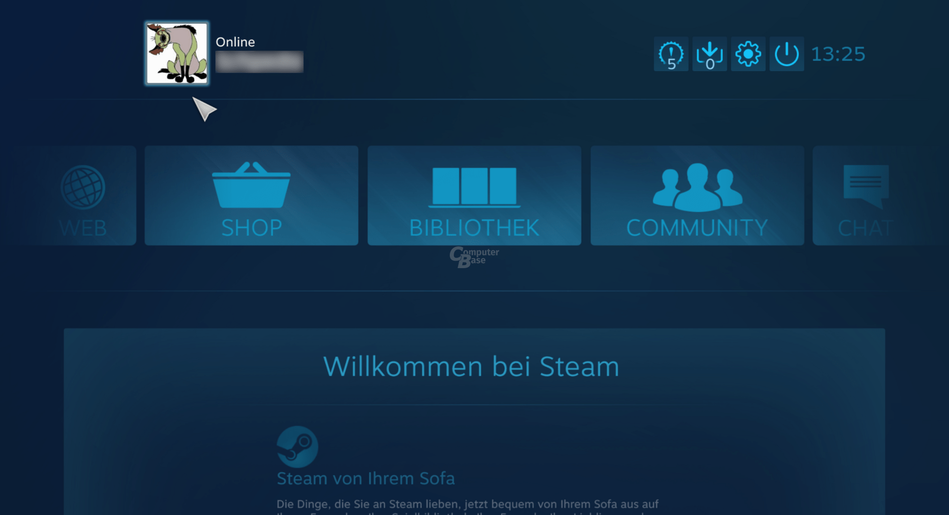 Steam – Big Picture-Modus