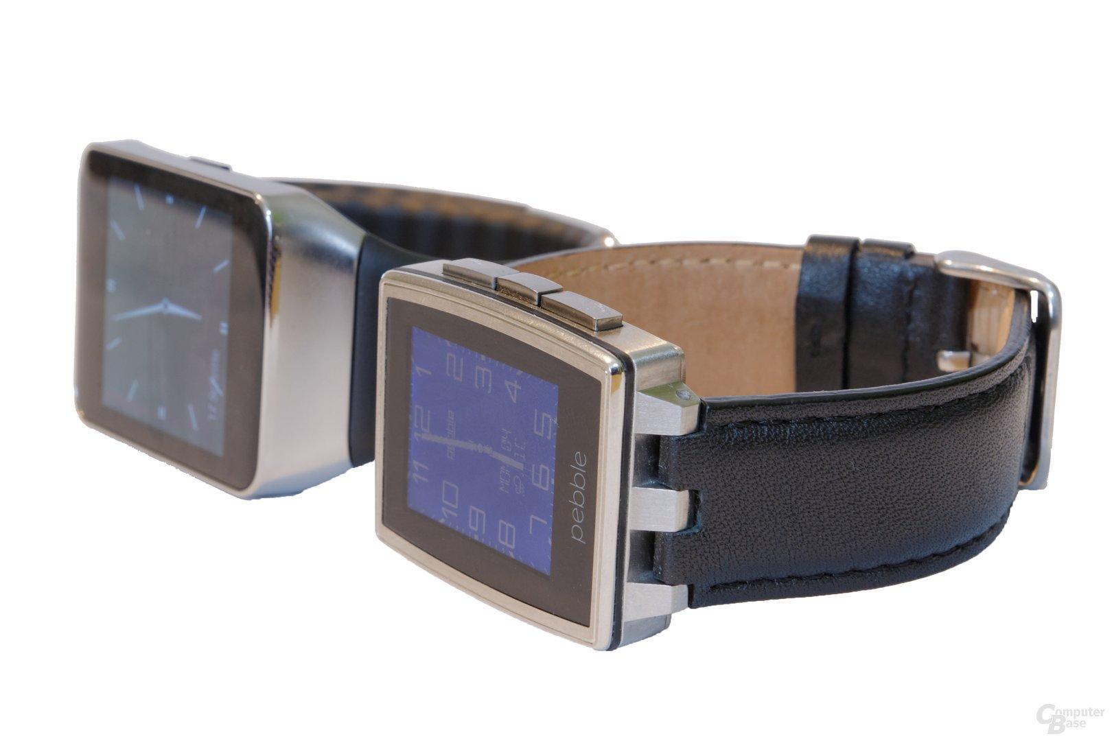 Pebble Steel und Samsung Gear Live