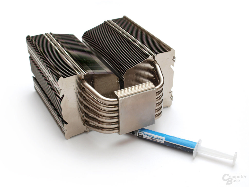 Prolimatech Megahalems – Sechs Heatpipes münden in die Bodenplatte