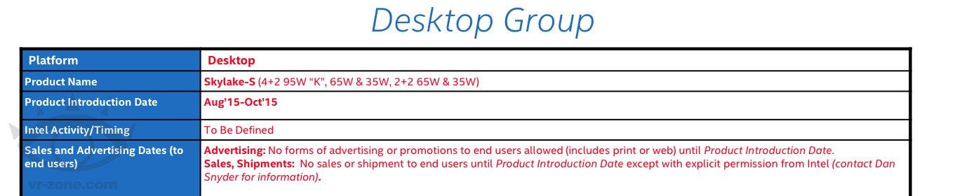 Zeitfenster für Skylake-CPUs für Desktop-PCs
