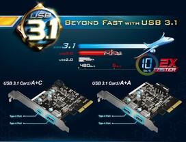 ASRocks Erweiterungskarten mit USB 3.1
