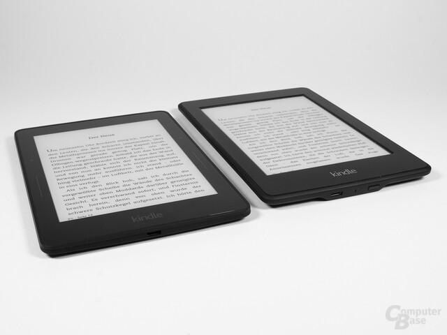 Größenvergleich Kindle Voyage vs. Kindle Paperwhite 2