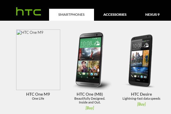 Kurzfristig war das HTC M9 bereits gelistet