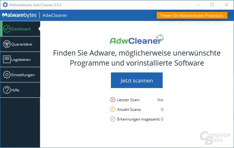 AdwCleaner – Start