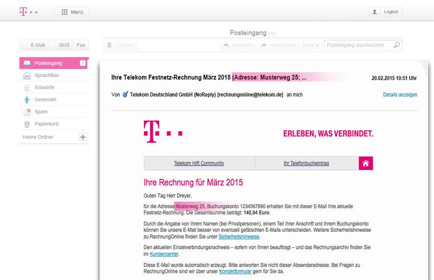 Neue Sicherheitsmerkmale der Telekom